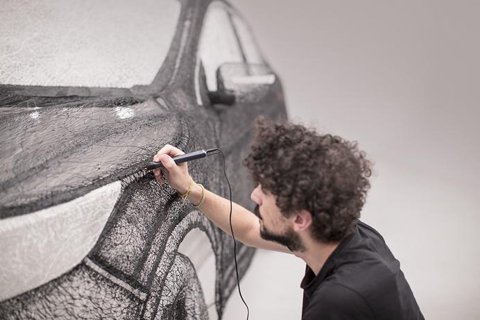 Nissan has created 3D pen sculpture using innovative 3Doodler 3D pen technology