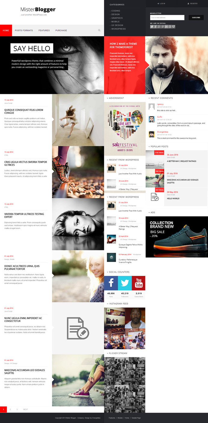 block, red, web design, concept, layout, minimal #red #design #block #concept #minimal #layout #web