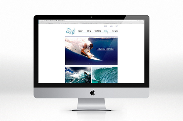 Surf HI website - Christopher Vinca #mock #surf #branding #design #website #up #web