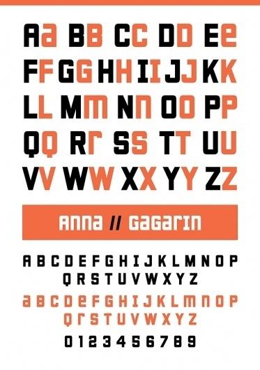 Novo Typo - Gagarin Anna - Type specimen #novo #design #typeface #typo #typography