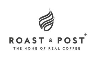 Roast and Post logo design, by Redspa http://redspa.uk