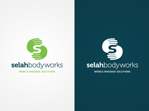 Selah Bodyworks logo #branding #human #brand #massage #identity #hands #logo