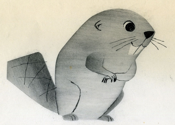 All sizes | Ray Patin Beaver animation drawing | Flickr Photo Sharing! #illustration #vintage