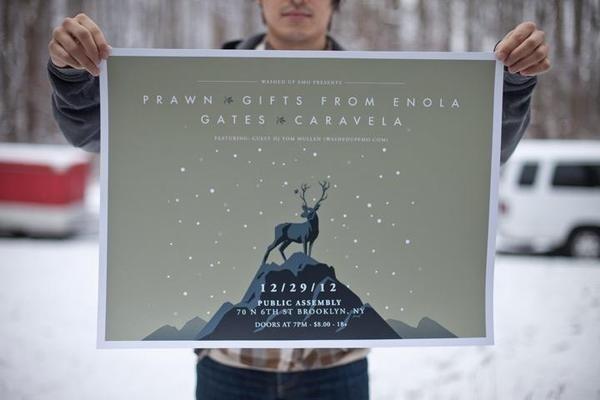 Gates Show Poster #gates #gigposter #screenprint #poster
