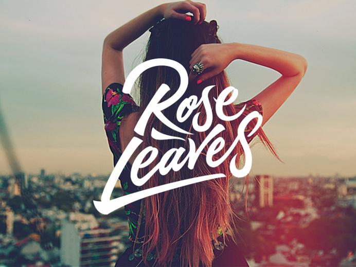 Rose Leaves – Custom logotype for a DJ/Producer.