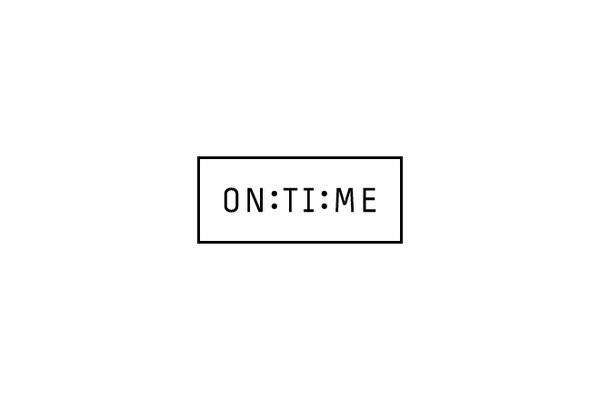 ON:TI:ME #store #guerrero #brand #andrs #logo #clock