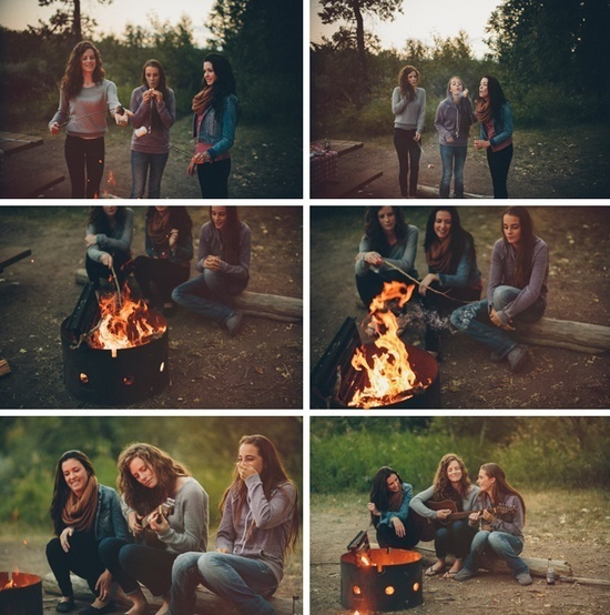 Report Comment #guitar #camp #women #candid #photography #portrait #fire #summer #life