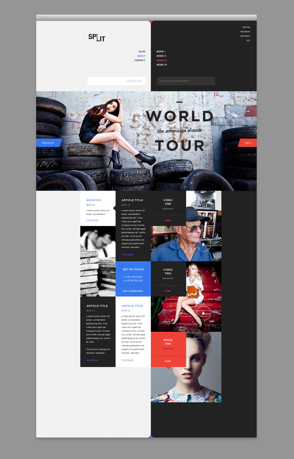 Web design with a split personality. #responsive #design #ui #website #layout #wed #web