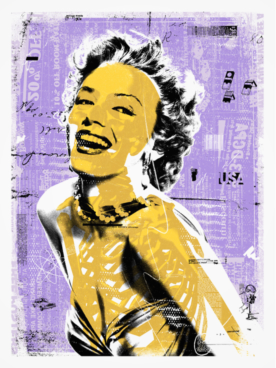 Blonde Winds - Norma #popart #cozzi #winds #pop #monroe #print #screenprint #denver #norma #colorado #blonde #art #poster #marilyn