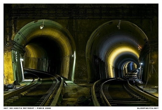 Not so hasty retreat | Flickr - Photo Sharing! #train #paris #metro #underground