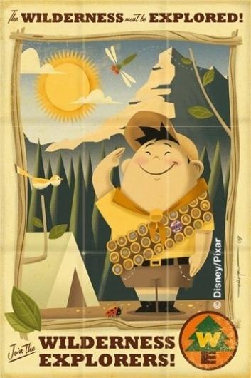 russell.jpg (image) #illustration #travel #vintage #pixar