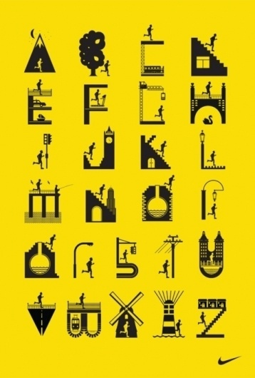 very much appreciated #design #icons #running #nike #alphabet #poster #type