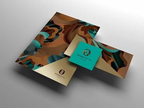 Opera on Branding Served #extravagant #luxury #gold #stationery