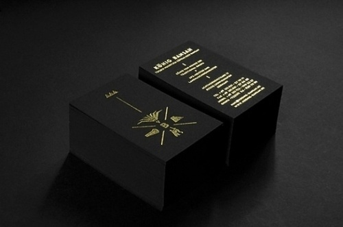 Graphic design inspiration #gold #black #cards #business