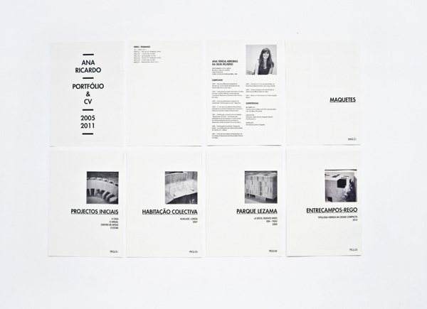 ANA RICARDO // PORTFOLIO AND CV // ARCHITECT on Behance #cv