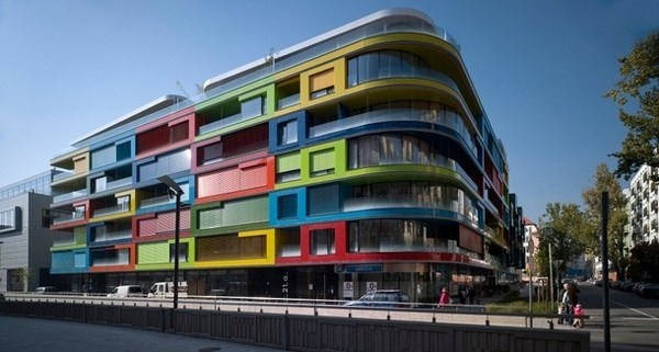 Budapest and modern apartments with amazing colors #bright #architecture #art #exterior #buildings