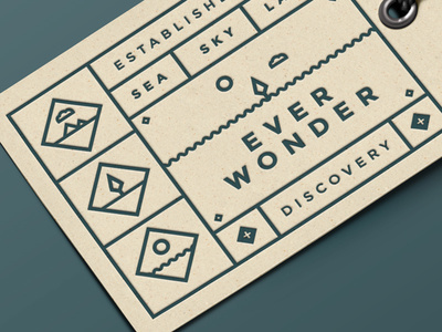 EVER WONDER™ // Label #vector #branding #iconography #icon #icons #texture #label #grid #logo #forest #web #green