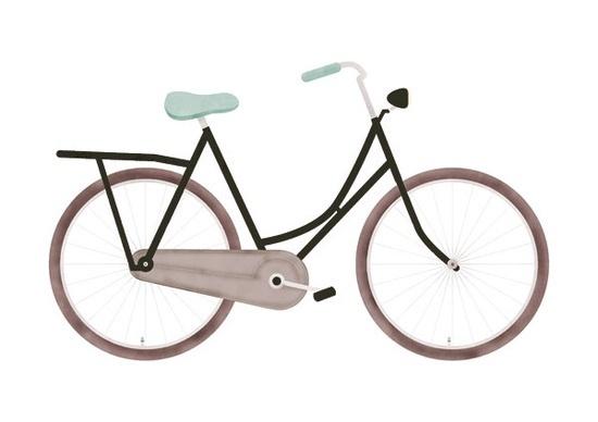 dutch granny's bike (by smpl8) #bicycle #omafiets #smpl8 #grannys #texture #illustration #bike #dutch