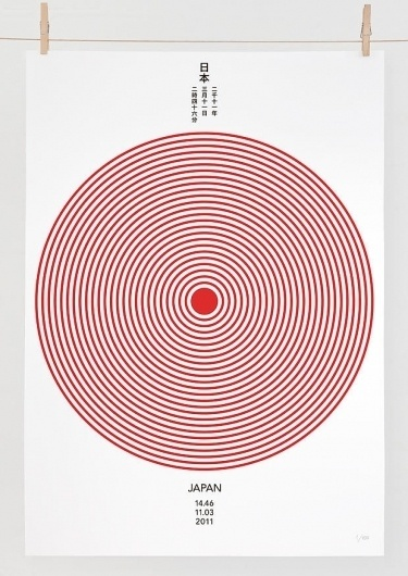 Editions of 100 — JAPAN **Tsunami Appeal** #earthquake #design #graphic #illustration #japan