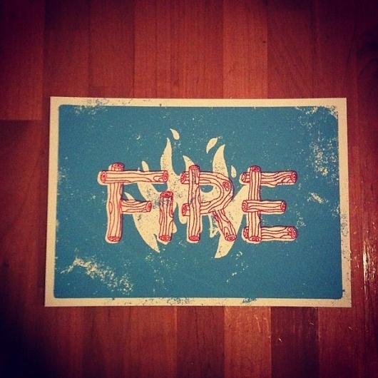 Dribbble - Instagram1.jpeg by Jake Dugard #silkscreen #fire #texture