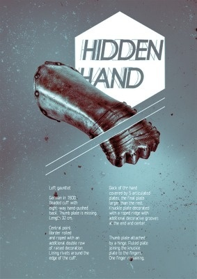 red ink on paper #hidden #hand #medieval #poster #gauntlet #armour