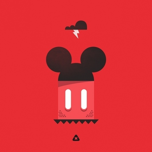 Flickr: Your Photostream #micahburger #mickey #mouse #illustration #disney #evil #dark