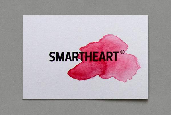 smartheart emotion logotype #heart #red #mart #business #emotion #logic #card #watercolor