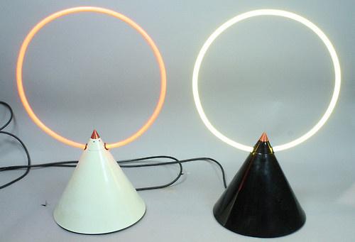 centuria:nnNeon ConeSculpturesZimmerman Studios, c.1970sn #object #lighting #design