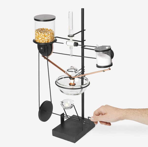 ECAL low tech factory oncle sam single kernel popcorn machine #popcorn #machine