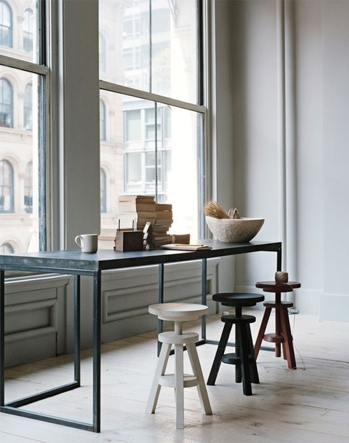 napoleonfour #view #food #stool #kitchen #bar #window #minimalist #table