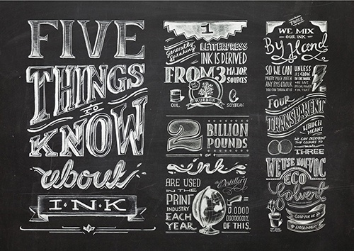 Ink So Good You Could Lick by Olivia King #technique #lettering #design #graphic #craftsmanship #quality #typography