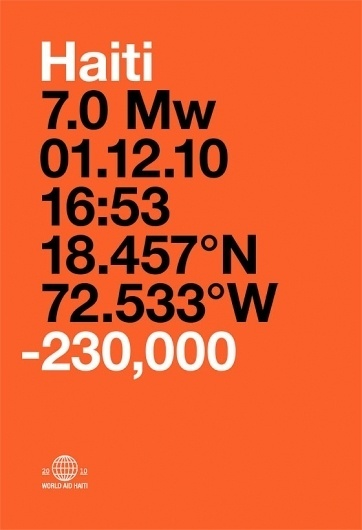 Neuarmy™ » National Record Holders | World Aid Haiti #helvetica #poster #typography