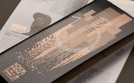 Nördik Impakt 13 – Communication | Murmure – Agence Créative | Agence de communication àCaen / Bench.li #print #geometric #illustration #architecture #foil