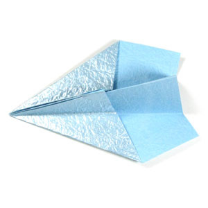 How to make a traditional paper plane (http://www.origami-make.org/howto-paper-airplane.php)