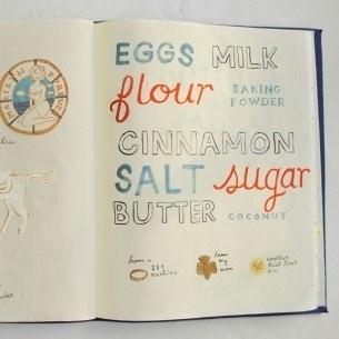 Book By Its Cover » Sketchbook Series: Danielle Kroll #type #kitchen #art #sketchbook