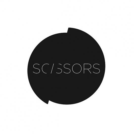 SCISSORS LOGO #fold #logotype #cut #scissors #logo #fashion #type