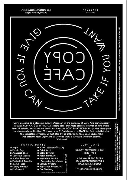 Copy Café #print #poster