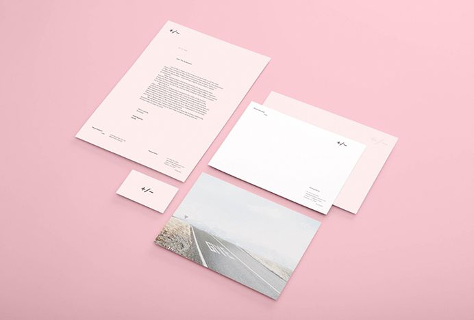 Picture of stationery designed by Studio Brave for the project Derek Swalwell Photographer. Published on the Visual Journal in date 11 December 2015
