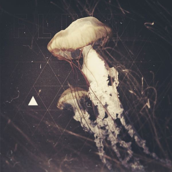 Fluid Art Print #geometry #jellyfish #triangle #photography #typography