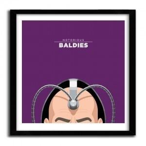 Notorious Baldie PROFESSOR X by Mr Peruca #print