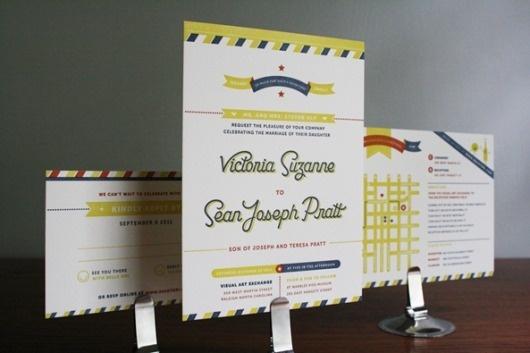 ketchup n mustard : sean and tori #invitations #wedding #stationery