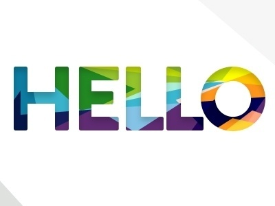 Dribbble - Hello by Aidan Dore #cutout #fractal #hello #typography