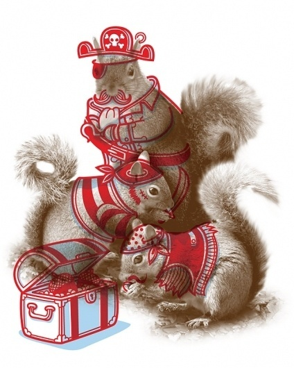 Philip Tseng | minicubby.com #illustration #squirrels #animals