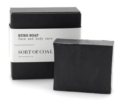 Sort of Coal | Design Milk #white #charcoal #black #simple #eco