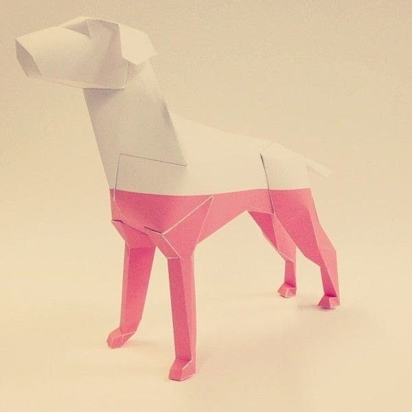 Our dipped Gerald design for Lazerian Studio Coming to a kennel near you soon! #red #print #design #graphic #product #gerald #dipped #studio #and #folding #paper #dog