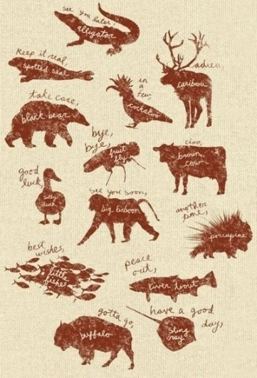 Juxtapost - My great finds #paper #kraft #animals