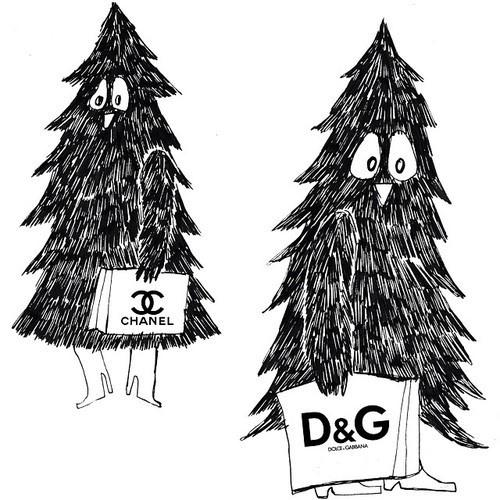 extra Kak 9 is out the #holidays issue #christmas #shopping #fashion #christmastree #extrakak #fanzine #illustration #drawing
