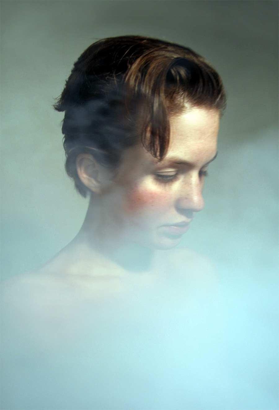 портрет дымка на фото музыка, яркие